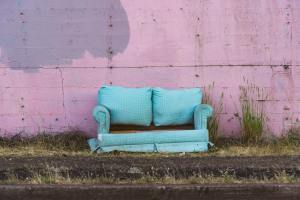 Blue Couch Moment